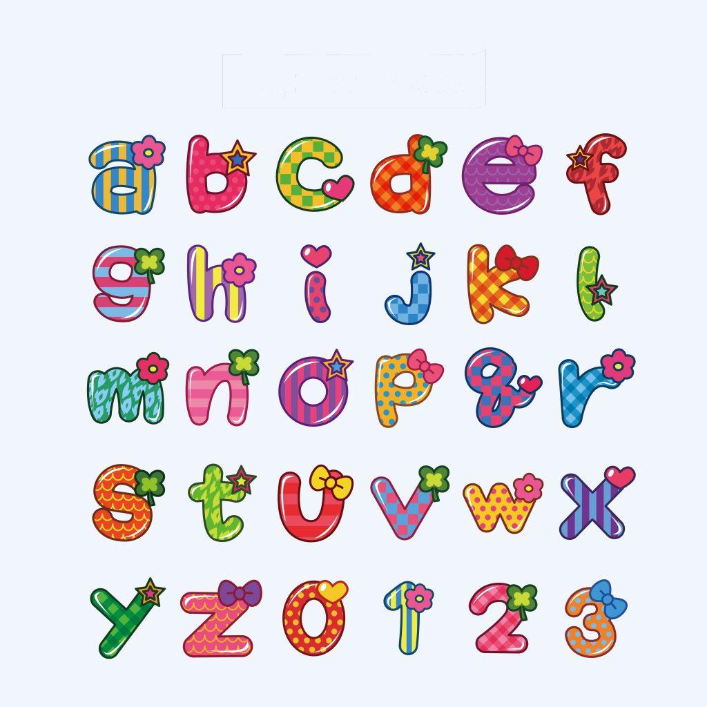 アルファベットの表
