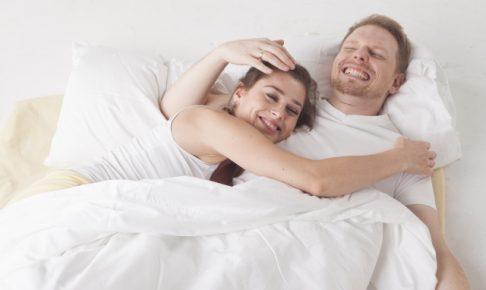 ベッドに2人