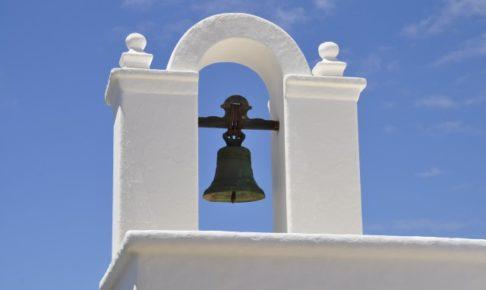 白い塔にあるベル